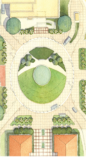 Plan view of conceptual design for Mining Circle