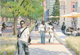 view of proposed retiail street in the health sciences district